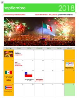 september 2018 calendar in spanish calendario septiembre 2018 en espaol