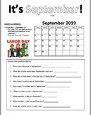 September 2019 Calendar Practice Pages