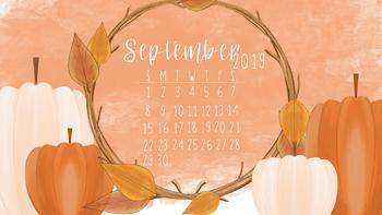 September 2019 Fall Computer Wallpaper Freebie