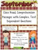 September 7th(Vol.1) - Common Core Close Read w/ Text Depe