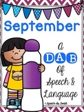 September: A Dab of Speech and Language