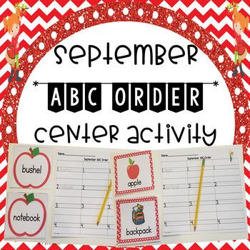 September ABC Order