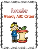 Fall ABC Order - September