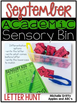 September Academic Sensory Bin