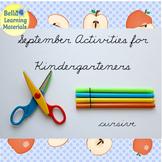 September Activities for Kindergarten Cursive   - Distance