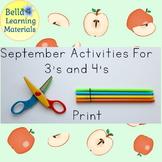 September Preschool Activities Print   - Distance Learning