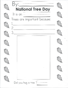 September Activity Arbour Day Lesson Plan & Activity