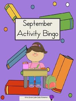 September Activity Bingo