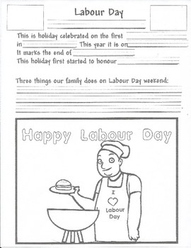 September Activity - Labour Day Lesson Plan & Material