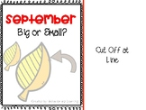 September Adapted Book {Big or Small} freebie - for studen