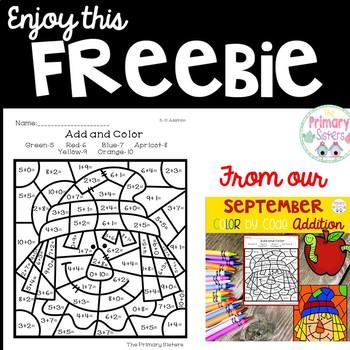 September Addition Color By Code Freebie