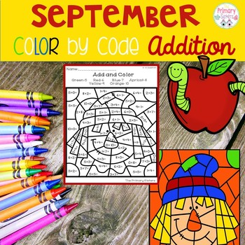 September Addition Color by Code
