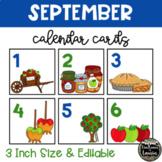 September All Things Apples Calendar Cards (3 INCH)