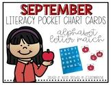 September Alphabet Pocket Chart Fun
