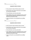 September Anchor Activities