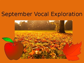 September Animated Vocal Explorations (3 files included)