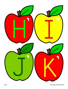 September Apple Alphabets for Bulletins Boards, Banners and More!