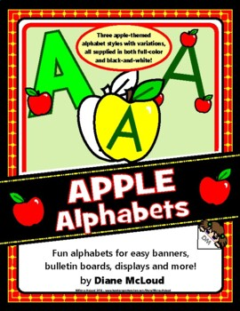 Apple Alphabets for Bulletins Boards, Banners and More!