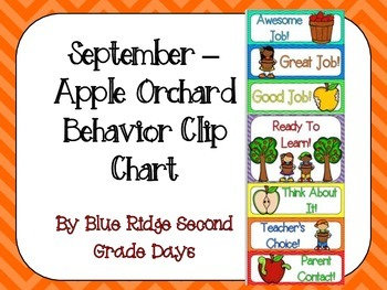September Apple Behavior Clip Chart