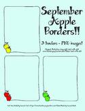 September Apple Borders