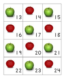 September Apple Calendar Covers AB pattern