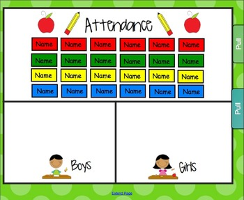 September Apple Theme Lunch and Attendance Count for Smartboard