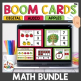 September Apple themed Kindergarten Math Boom Cards