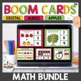 September Apple themed Kindergarten Math Boom Cards