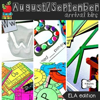 September Arrival Bins--ELA Edition