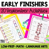 Early Finishers - September