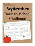 September Back to School Challenge