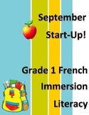 Grade 1 or 2 French Immersion Literacy Daily Worksheets Using Personal Word Wall
