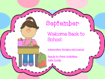 September- Back to School Interactive/Journal Ready to Pri