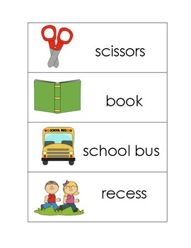 September/Back to School Vocabulary Unit - Special Education