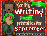 September Writing Center NO PREP Printables