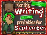 September Writing Center NO PREP Printables
