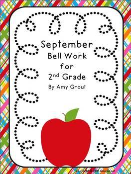 September Bell Work for 2nd Grade