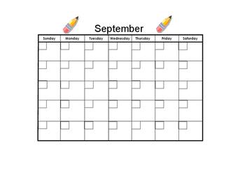 September Blank Calendar