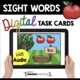 September Boom Cards™ - kindergarten sight words apples -