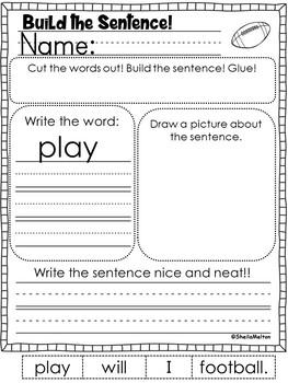 September Build the Sentence