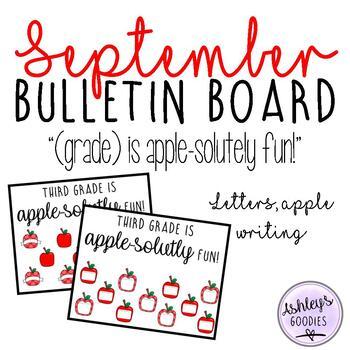 September Bulletin Board Display