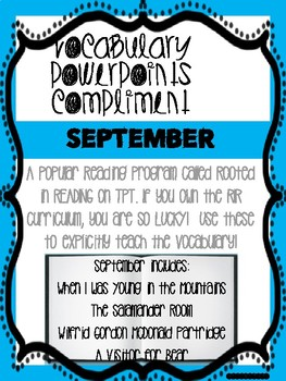 September Bundle! Vocabulary PowerPoints match Rooted in Reading 2nd grade books
