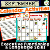September Calendar Activities for Language