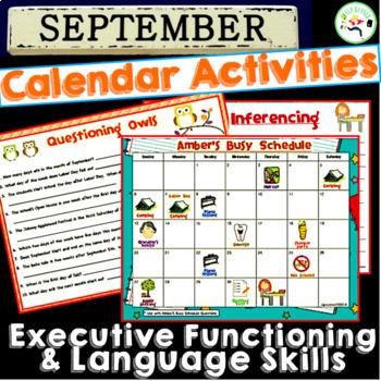 September Calendar Activities for Language