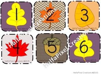 September Calendar Cards ABCDE Pattern {Fall / Autumn}
