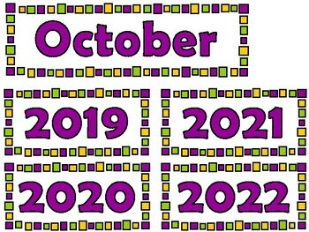 October Calendar Cards {Halloween} Pumpkin Spider {Morning Math} Number Corner
