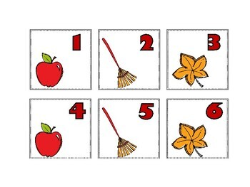 September Calendar Cards {Autumn} Fall Apple Leaves {Morning Math} Number Corner