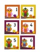 August or September Calendar Cards - Fall Owl Themed - ABC