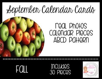 September Fall Calendar Cards-Real Photos
