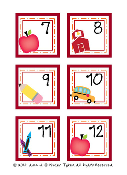 September Calendar Cards by Kinder Tykes